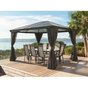 hesperide tonnelle de jardin belize toit transparent pas cher achat vente pergola. Black Bedroom Furniture Sets. Home Design Ideas