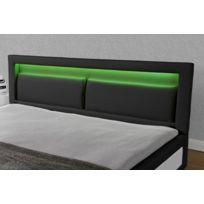 Design et Prix - Magnifique Lit Vegas-Noir Led-160x200cm