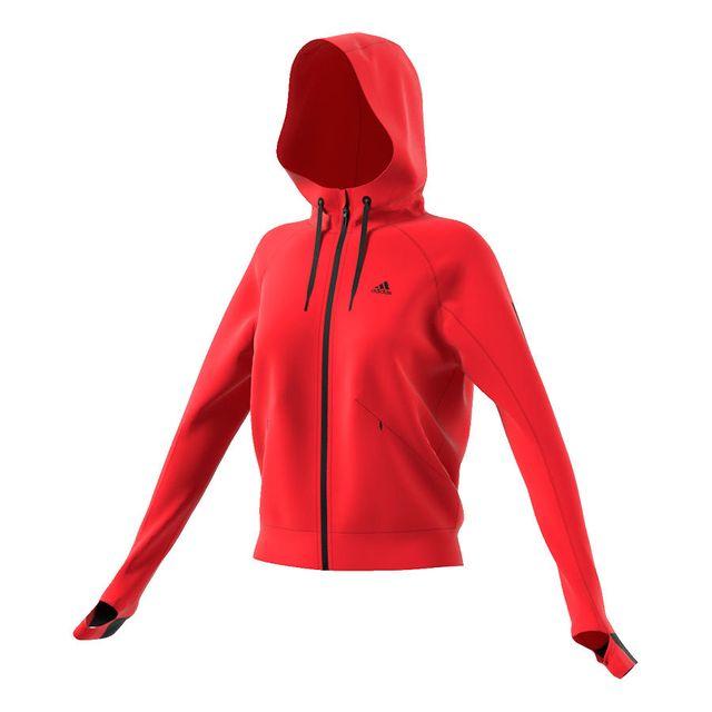sweat rouge adidas femme