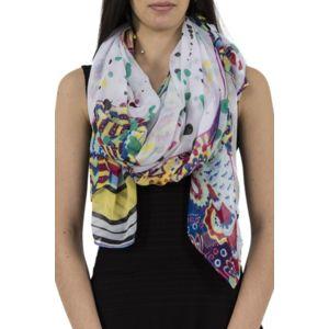 desigual foulards 71w9ee2 rectangle splatter blanc pas cher achat vente echarpes foulards. Black Bedroom Furniture Sets. Home Design Ideas