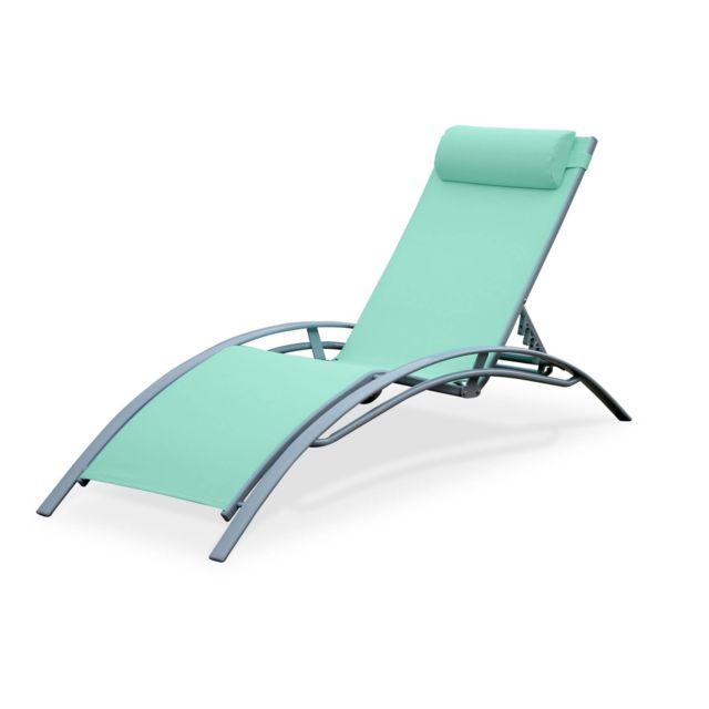 alice 39 s garden bain de soleil en aluminium et textil ne. Black Bedroom Furniture Sets. Home Design Ideas