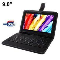 Yonis - Housse clavier universelle tablette tactile 9 pouces Usb support Noir