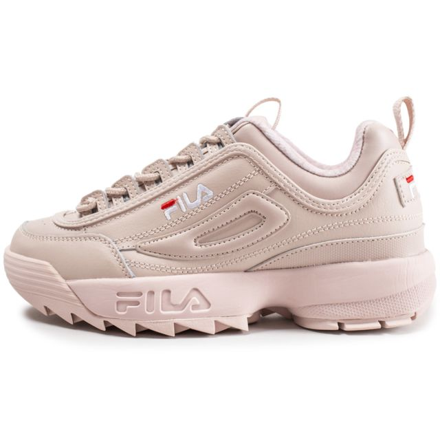 chaussure fila femme rose pastel