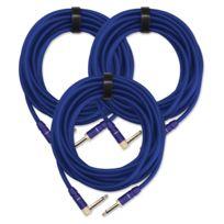 Pronomic - 3x Set Trendline Inst-6B câble à instrument 6 m bleu