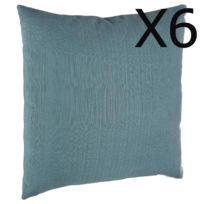 Pegane - Lot de 6 coussins coloris orage - Dim : 40X40 cm