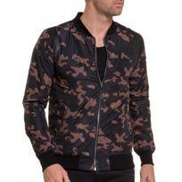 BLZ Jeans - Veste fashion homme zippé camouflage marron