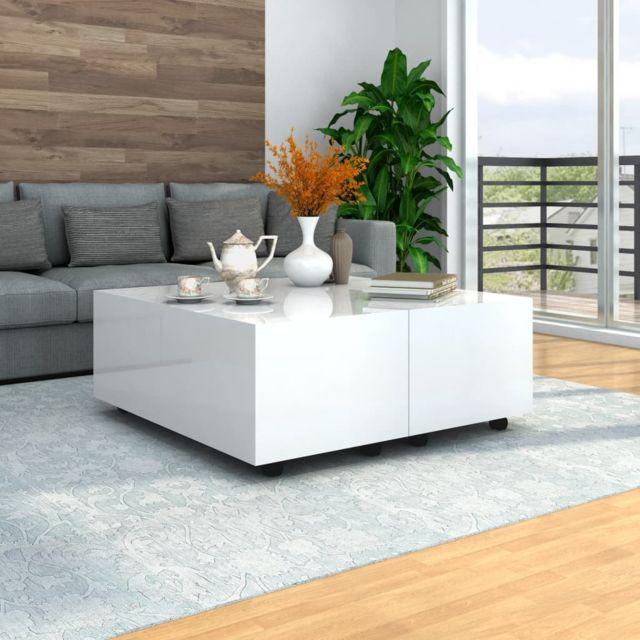Vidaxl Table Basse Tables d'Appoint Rangement Canapé Salon Intérieur Maison
