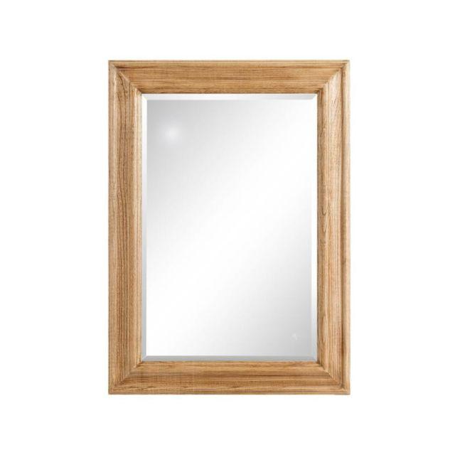 Tousmesmeubles Miroir rectangulaire Bois naturel - Acore