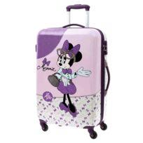 Jou Jye - Grande valise coque rigide Minnie violette