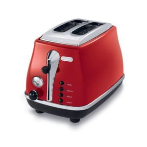 Delonghi grille pain 2 fentes 900w icona rouge - Grille pain rouge pas cher ...