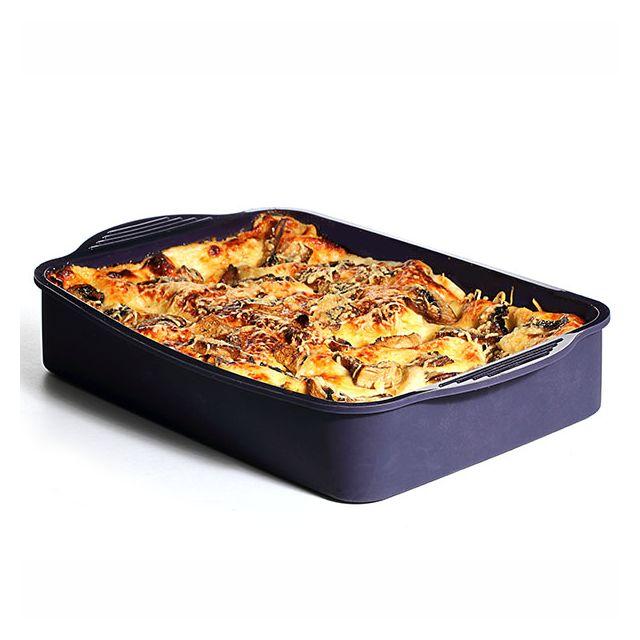 MAISON FUTEE Plat à gratins et lasagnes en silicone - Rouge