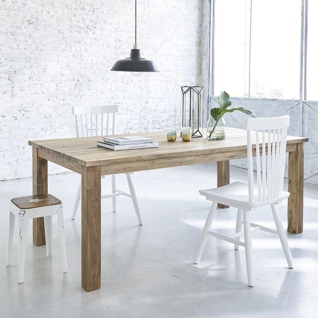 bois dessus bois dessous table en bois de teck recycl 6 8 couverts 100cm x 77cm x 200cm n. Black Bedroom Furniture Sets. Home Design Ideas