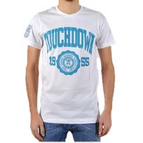 Beandbe Touchdown - T-shirt be and Be Touchdown 1955 Blanc / Turquoise