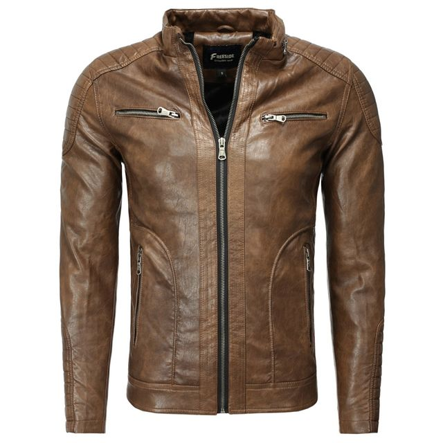 Freeside - Veste fashion cuir homme Veste 1002 marron