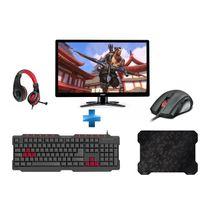 G246HLGBID + CRIPT - Tapis de souris ultra-fin + FERUS Gaming Keyboard, black - FR Layout + ASSERO + LEGATOS