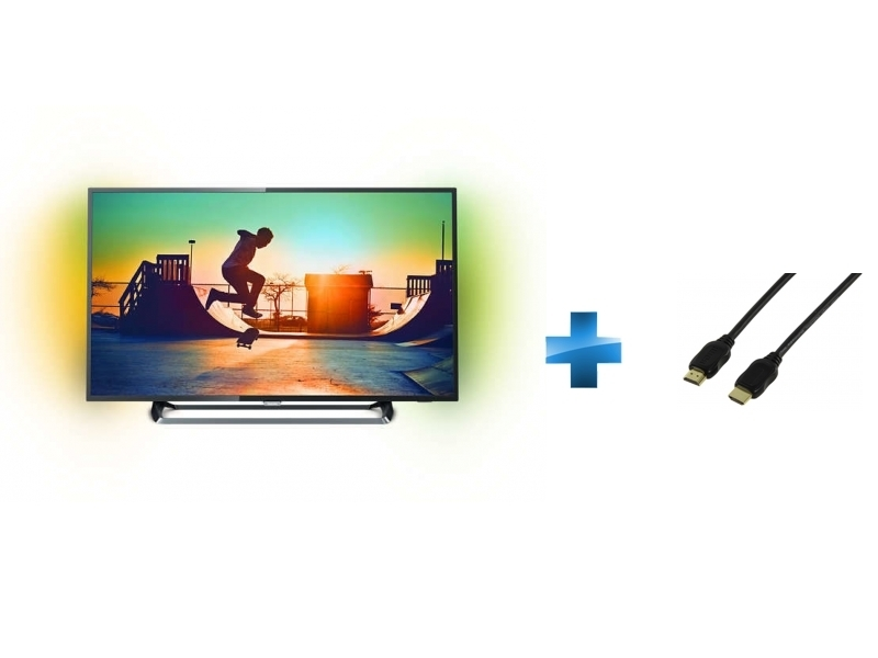 TV LED 49'' - 49PUS6262 + Cordon HDMI 1.4 - 1.5 mètres