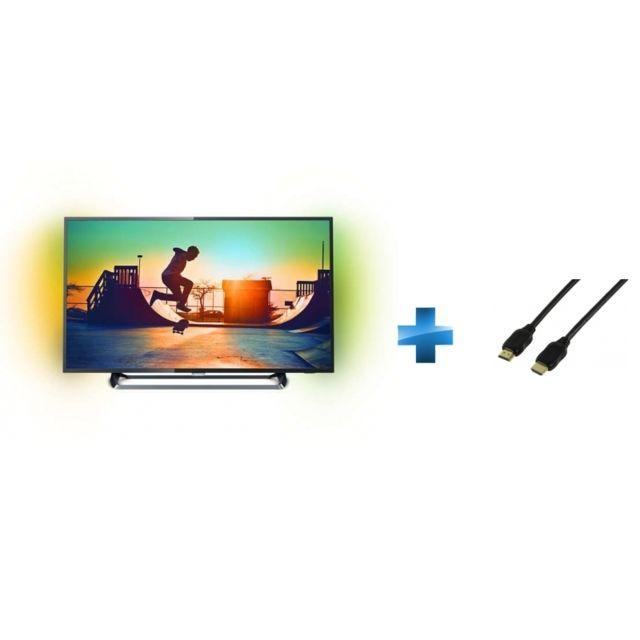 philips tv led 49 39 39 49pus6262 cordon hdmi 1 4 1 5 m tres pas cher achat vente tv led. Black Bedroom Furniture Sets. Home Design Ideas
