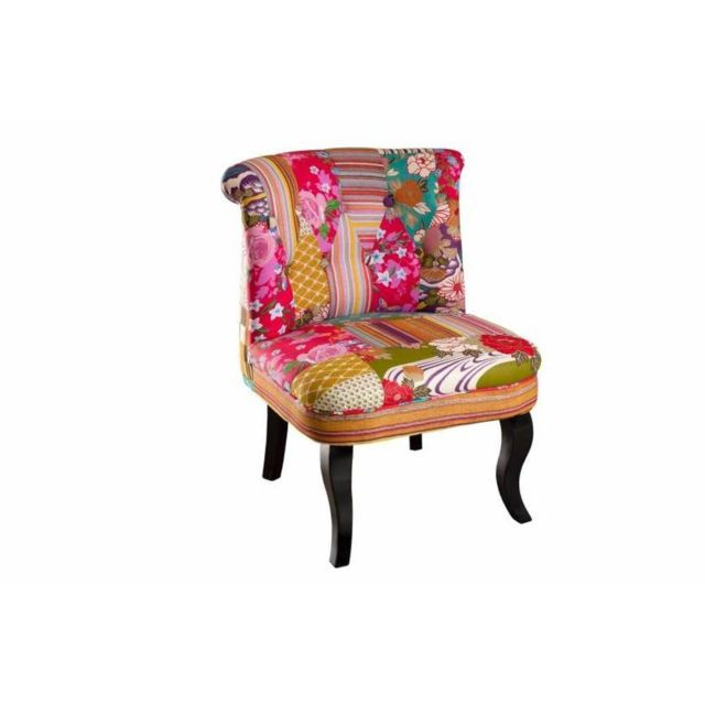 Inside 75 Fauteuil design cosy Betty en coton tissu bohème