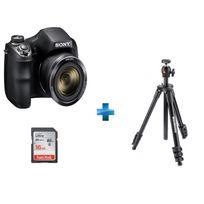 SONY - Appareil photo bridge - HX300 + Trépied Compact Light + Carte SDHC Ultra 16 Go