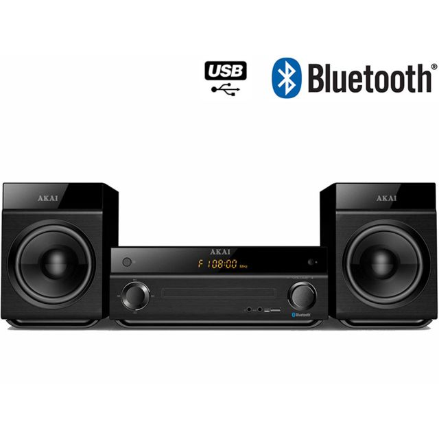 AKAI - AM-301K - Micro chaîne - CD - Bluetooth - Noir