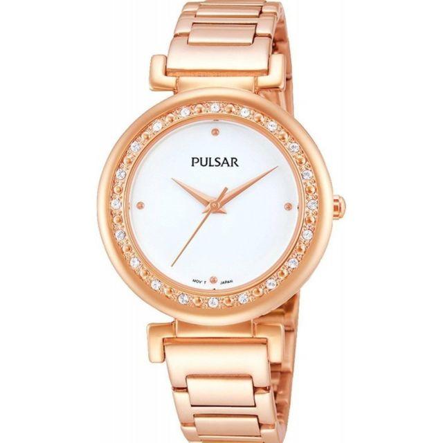 136cf89b15d7c Pulsar - Montre Femme Ph8106X1 Or Rose Achat / Vente Montre Analogique pas  chère - RueDuCommerce