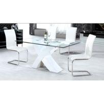 Habitat et Jardin - Table repas Mona - 150 x 90 x 75 cm - Blanc