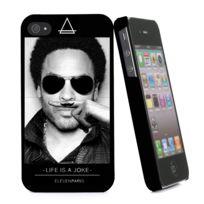 Eleven Paris - Coque Lenny Noire Toucher Gomme Pour Apple Iphone 4/4S
