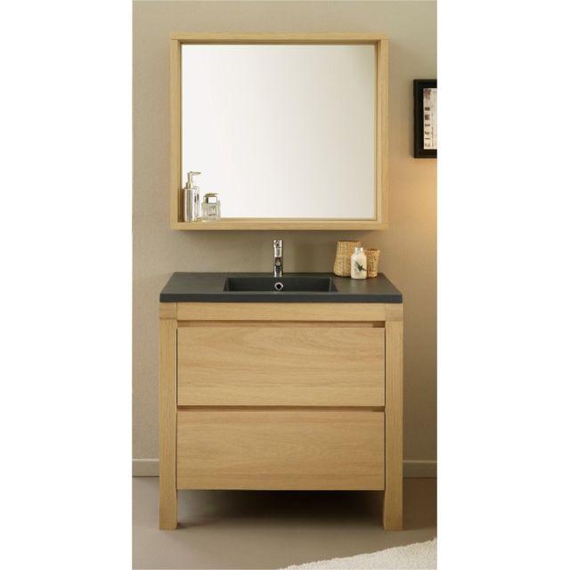 last meubles bloc salle de bains oaky pas cher achat. Black Bedroom Furniture Sets. Home Design Ideas