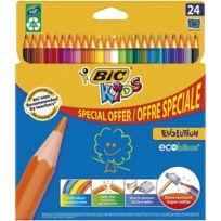 Lot de 24 Crayons de couleur Kids Evolution Ecolutions
