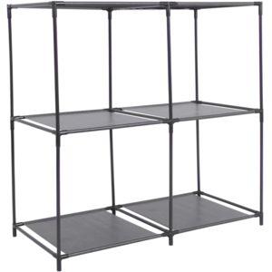 promobo etag re de rangement 4 casiers avec structure en m tal et support toile intiss 70 x. Black Bedroom Furniture Sets. Home Design Ideas
