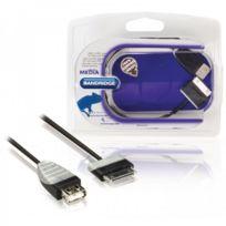 Bandridge - Câble Usb 2.0 Otg pour tablette Samsung Samsung 30 broches mâle - Usb type A femelle 0,2 m noir