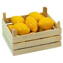 Goki - 2040779 - Jeu D'IMITATION - CommerÇANT - Citrons Dans Une Caisse De Fruits