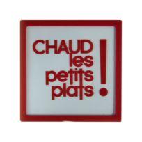 "Paris Prix - Dessous de Plat verre ""Chaud les petits plats"