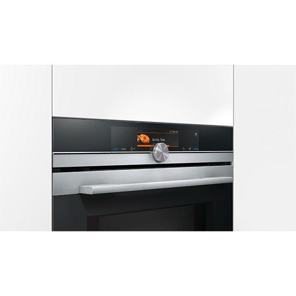 SIEMENS - four intégrable combi vapeur et mo 45l 60cm pyrolyse inox/noir - cn678g4s1