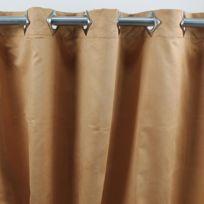 Mon Beau Tapis - Rideau Suede 140x250cm, Ocre/Jaune • Suédine