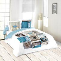 housse couette motif marin achat housse couette motif marin pas cher rue du commerce. Black Bedroom Furniture Sets. Home Design Ideas