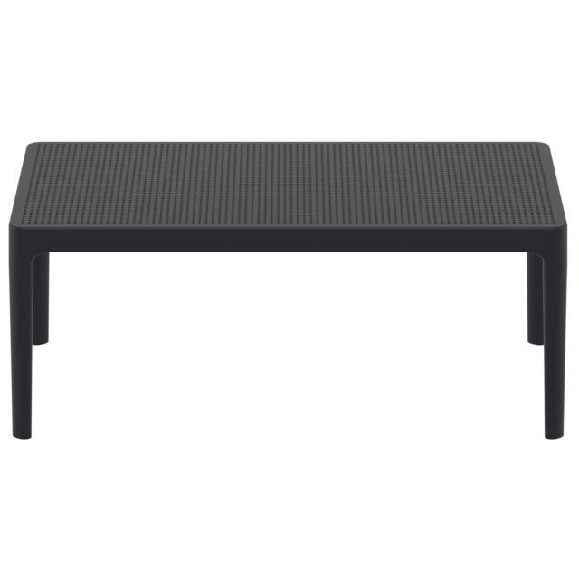 Miliboo Table Basse Design Interieur Exterieur Noir Oskol Pas