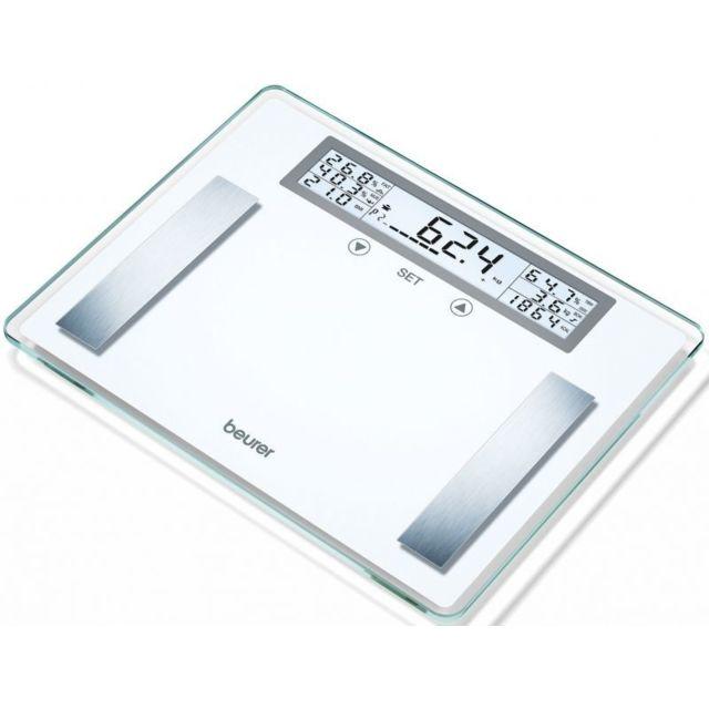 BEURER Impédancemètre - 200 kgs et plateau XXL Une activité physique suffisante, un régime sain et un poids de forme sont essentiels à votre santé.La gamme de pèse-personnes arrondis allant des pèse-personnes imp&