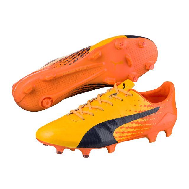d2ff7bd8ab43 Puma - Chaussures football Evospeed 17 Sls Fg Orange noir - pas cher ...