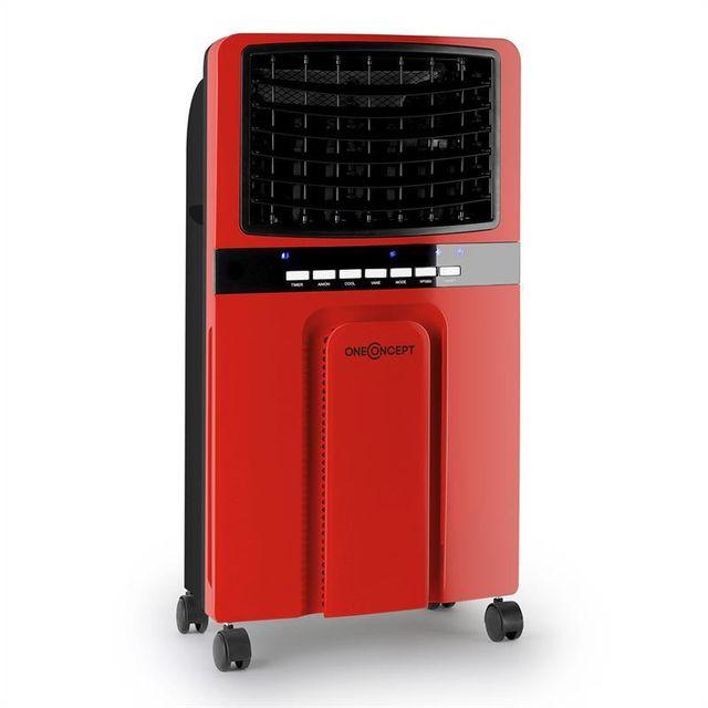 oneconcept baltic red ventilateur rafraichisseur d 39 air 65w 400m h rouge pas cher achat. Black Bedroom Furniture Sets. Home Design Ideas