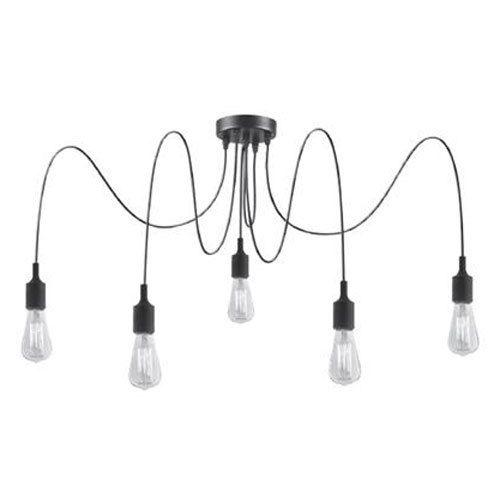 Lucide Suspension Fix Multiple 5 Ampoules Silicone Noir 60 W
