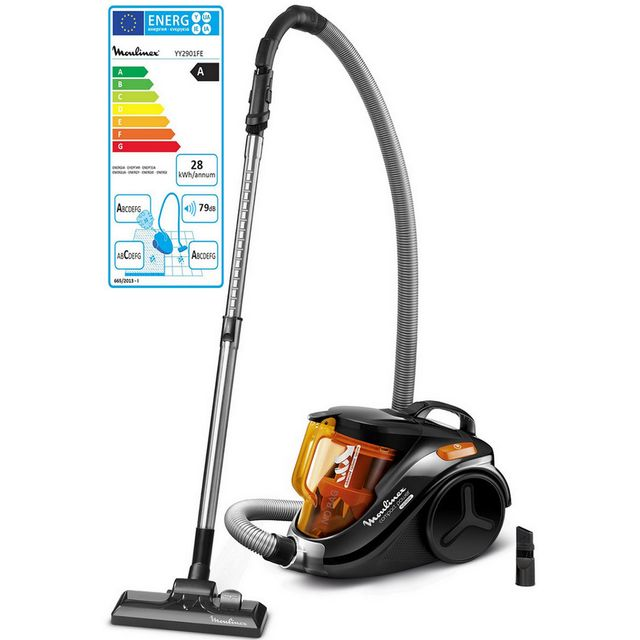 MOULINEX aspirateur sans sac aaca 79db noir/orange - yy2901fe