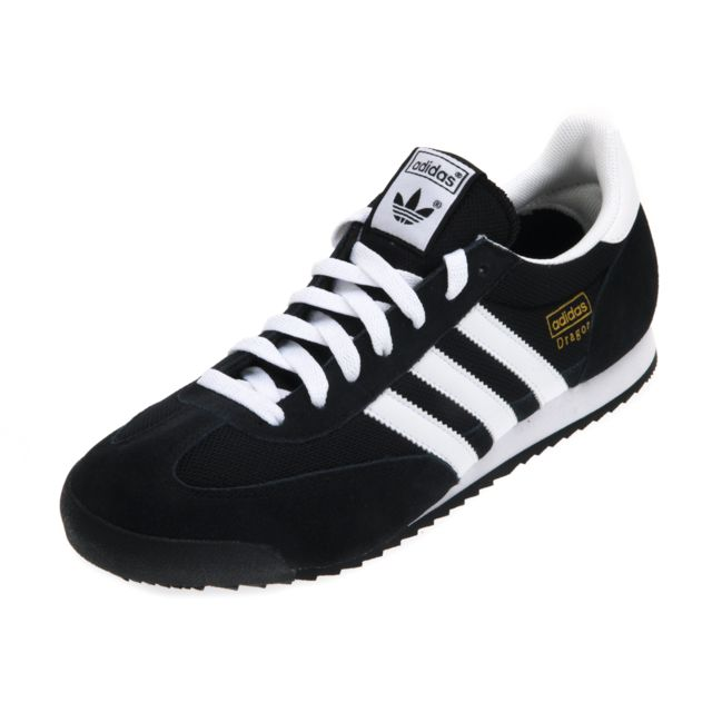 NoirBlanc Chaussures Adidas Dragon Homme Pas Cher
