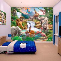 Walltastic - Papier peint enfant le monde de la jungle 305X244 Cm