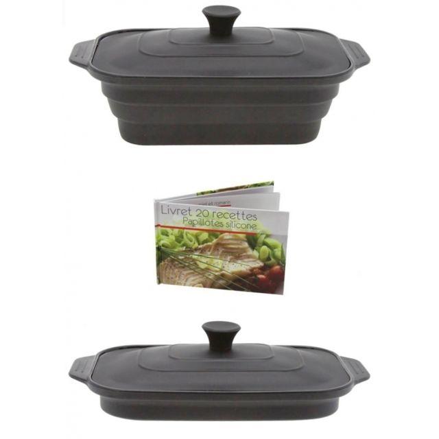 Papillote en silicone rétractable - Gris - Cuisine saine et sans graisses
