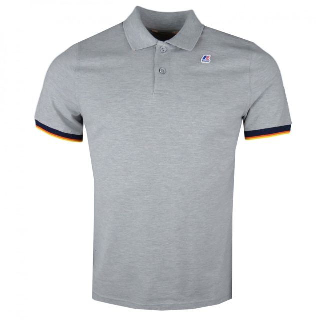 K-way - Polo gris régular fit pour homme - pas cher Achat   Vente Polo homme  - RueDuCommerce 12f3d133a8a