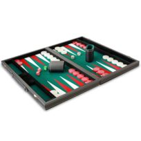 Philos - Backgammon feutrine verte 47 cm