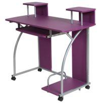 Helloshop26 - Bureau enfant table de travail meuble mobilier chambre violet 2608002