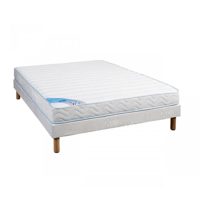 someo ensemble matelas mousse m10 sommier pieds 90x190 pas cher achat vente ensembles de. Black Bedroom Furniture Sets. Home Design Ideas