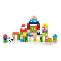 Milly Mally - Jeu de construction blocs en bois pour enfant 2ans+ La Ferme 50 pièces | Multicolore